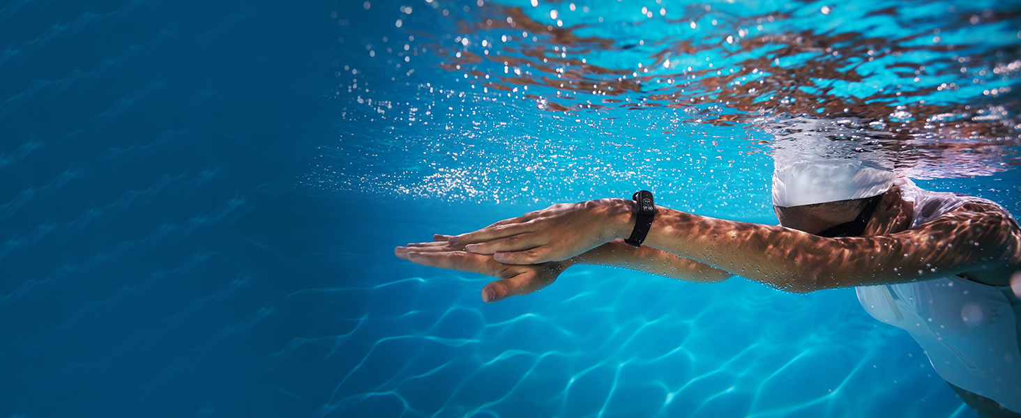 Water resistant, swim tracking, stroke recognition