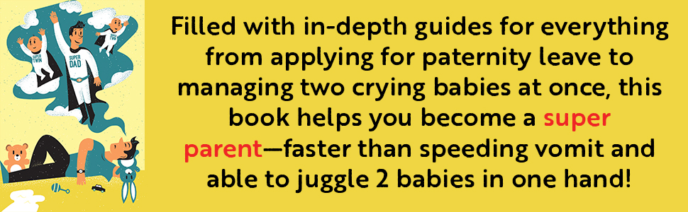 twins, twins baby book, twins book, new dad books, new daddy book, how to be a dad