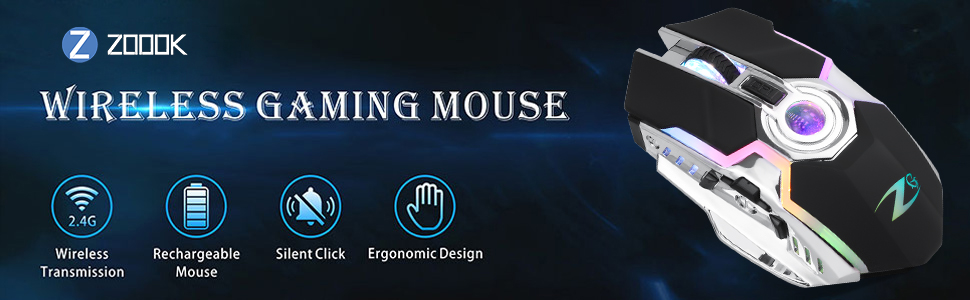 wireless gaming mouse;7 button mouse;gaming;gaming mouse;rechargeable mouse;led light mouse;mice