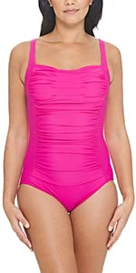 Zoggs Women's Bruny Ruch Front Swimsuit: Amazon.co.uk: Clothing