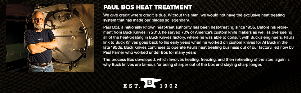 Paul Bos Heat Treatment Gives Buck Knives the Edge Over the Competition Sharper Out of the Box