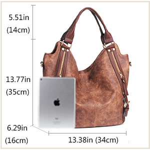 Amazon.com  JOYSON Women Handbags Hobo Shoulder Bags Tote PU Leather ... 0a0daf86373cb