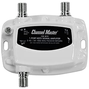 Channel Master, Distribution, Amplifier, RF, Amp, Splitter, Antenna, Signal Booster, In Line, 3410