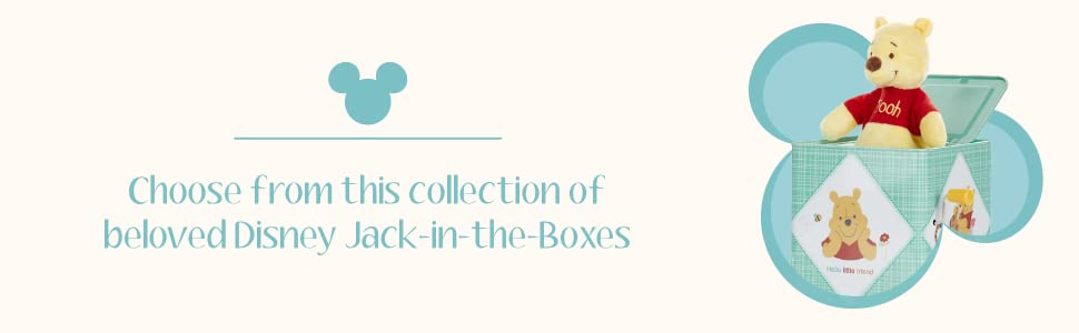 Choose from this collection for beloved Disney jack-in-the-boxes