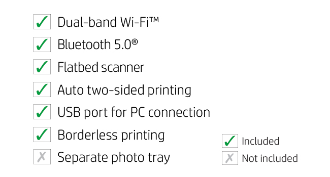 connectivity dual-band wi-fi bluetooth scanner 2-sided printing usb borderless