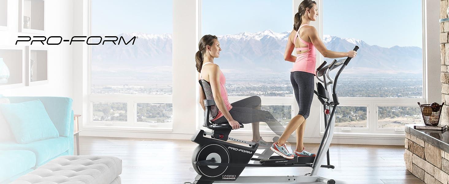 ProForm Hybrid Trainer Elliptical + Exercise Bike