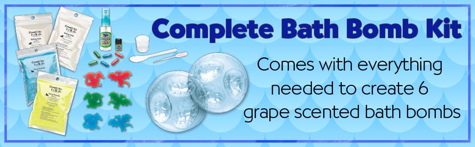 bath bomb kit for kids, bath fizzies, dragons for kids, dragons for boys, dragon eggs