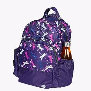 backpack with pockets, backpack with water bottle holder, large backpack, school backpack