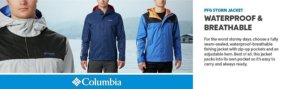 Columbia Men's PFG Rain Storm Jacket