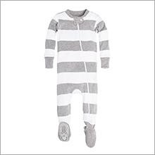 Burt's Bees Baby Sleeper Organic Zip Front Footed Pajamas