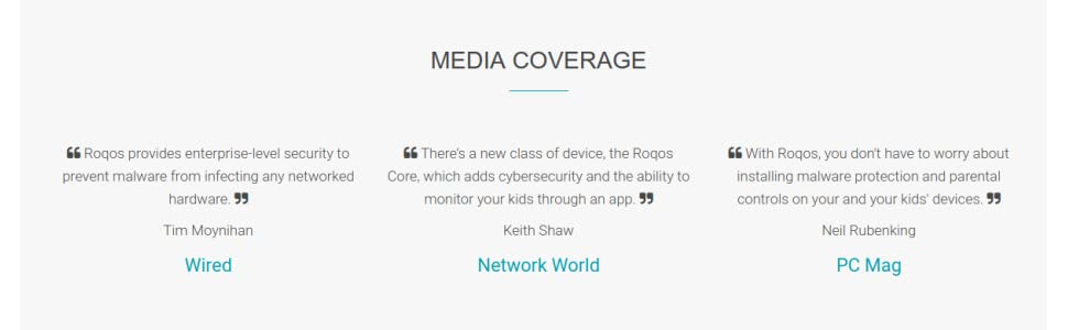 Roqos Core VPN Router - Next Generation UTM Firewall, Intrusion Prevention,  Parental/Employee Controls, WiFi - Protect Your IoT Devices from Hackers -