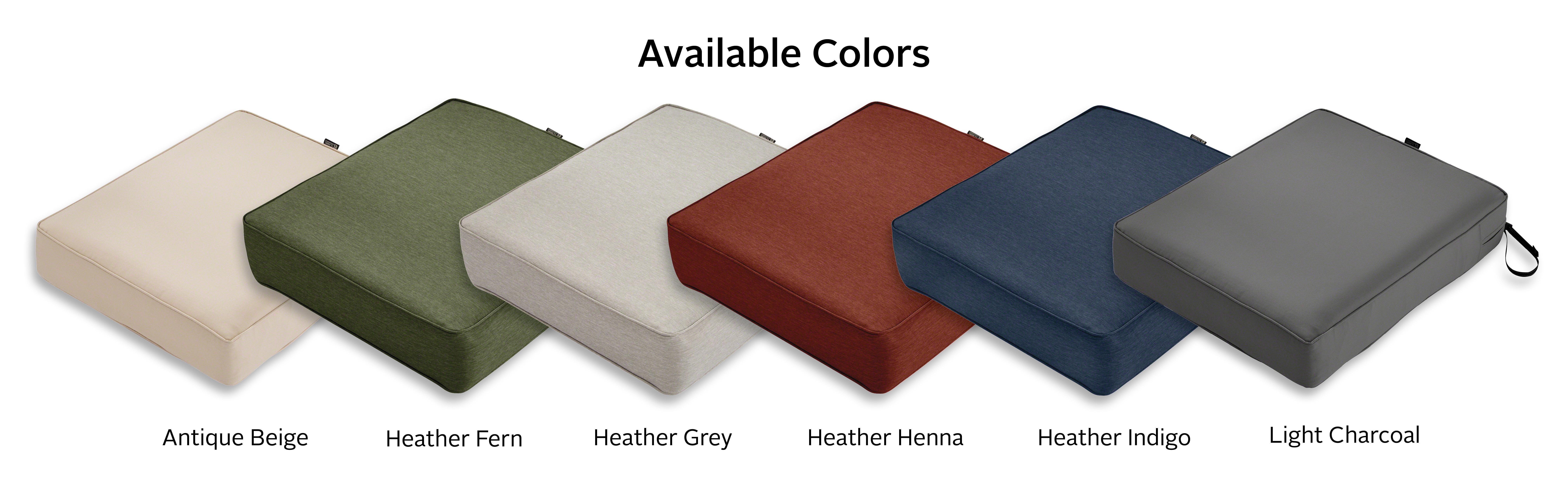 Classic accessories montlake seat cushion foam slip for Patio furniture covers amazon ca
