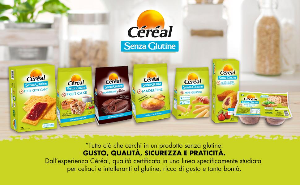 Linea Céréal;senza glutine;benessere;salute;qualità