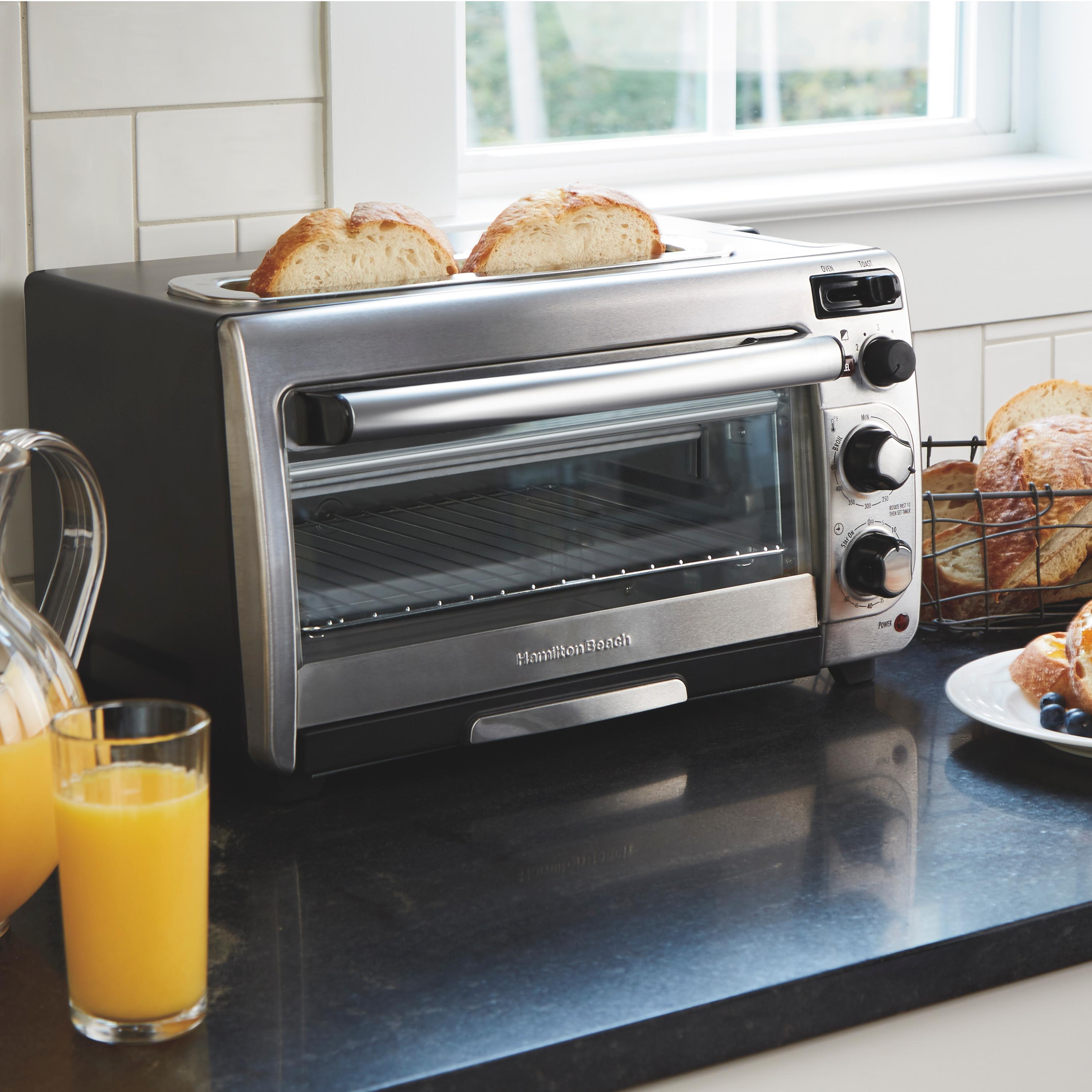 Amazon Com Hamilton Beach 2 In 1 Countertop Oven And 2