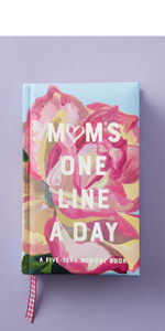 one line a day, five year journal, mother's Day, gift for mom