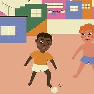 Little Edson Arantes Nascimento playing soccer streets Baurú Brazil Soccer school friends Pelé