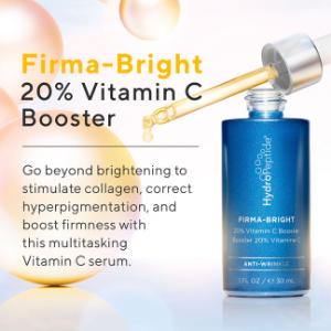 Hydrpeptide firma bright 20% vitamin c booster brightening stimulate collagen hyperpigmentation
