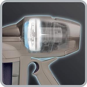 Rowenta RH9057WO Air Force 360, Scopa Elettrica Senza Fili e Senza Sacco, 21.9 V, Autonomia 30 minuti, Ricaricabile, Bianco