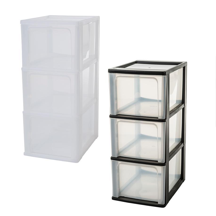 iris organizer chest och 2008 schubladencontainer schrank kunststoff schwarz transparent. Black Bedroom Furniture Sets. Home Design Ideas