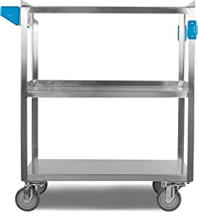 Stainless Steel cart, heavy duty cart, heavy gauge utility cart,high-capacity utility cart,
