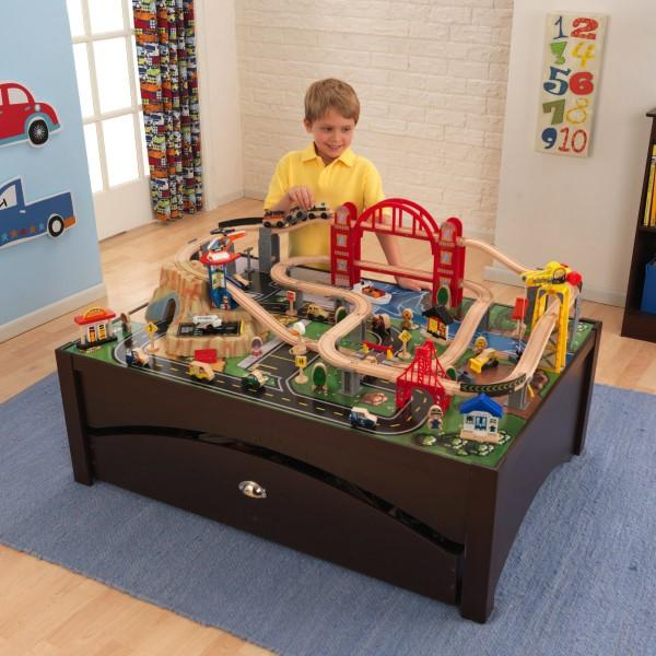 View larger  sc 1 st  Amazon.com & Amazon.com: KidKraft Metropolis Train Table u0026 Set: Toys u0026 Games
