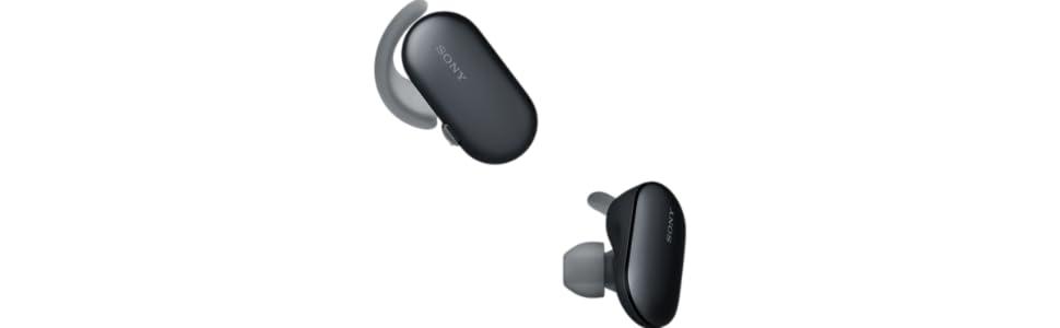 Sony WF-SP900B - Auriculares Deportivos Totalmente inalámbricos (Bluetooth, 4GB, Resistente al Agua y Polvo IP65/IP68, Sensor táctil, 12h de autonomía ...