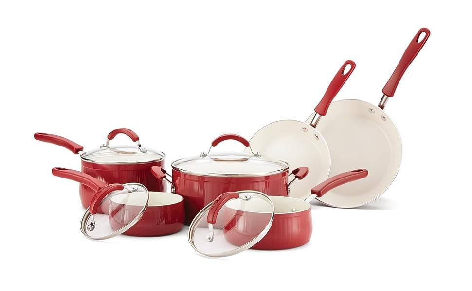 pots and pans, cookware, nonstick cookware, cookware set, nonstick pan, farberware cookware