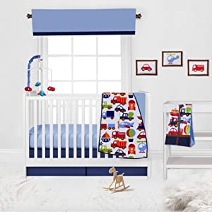 10 pc Crib Set With 2 Crib fitted Sheets