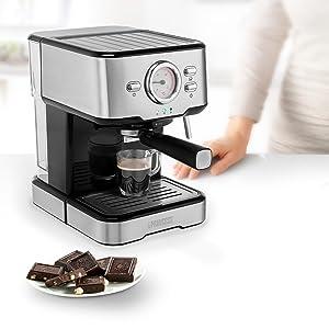 Princess 249412 Máquina de café para espresso italiano, Compatible con cápsulas Nespresso, 20 bares de presión, Depósito extraíble de , 1100 w, 1 taza, Negro: Amazon.es: Hogar