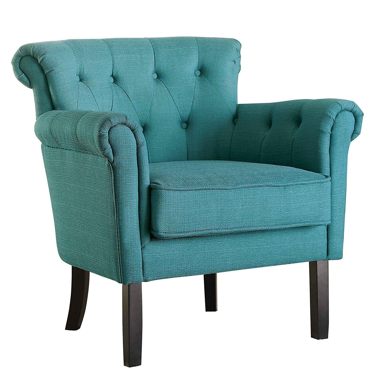 Amazon Com Homelegance Barlowe Flared Arm Accent Chair