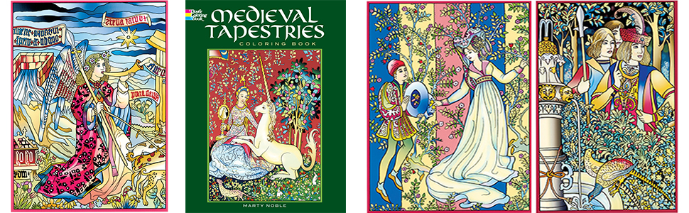 Medieval Tapestries Coloring Book (Dover Fashion Coloring