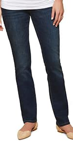 Maternity Secret Fit Belly Straight Leg Jeans Denim