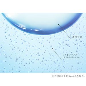ファインバブルは、通常の泡の約100分の1※
