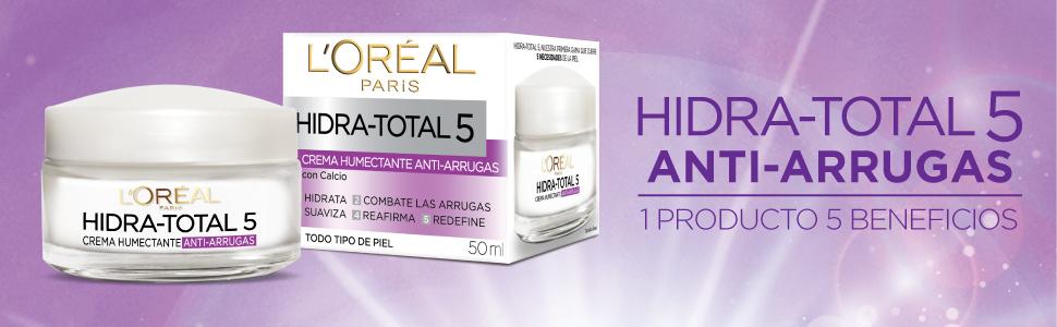 loreal hydra total 5 antiarrugas y