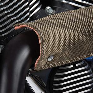 Design Engineering 010450 Titanium Pipe Shield - Exhaust Heat Shield, 6