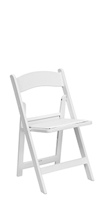 HERCULES 1000 lb. Capacity White Resin Folding Chair with Vinyl Padded Seat