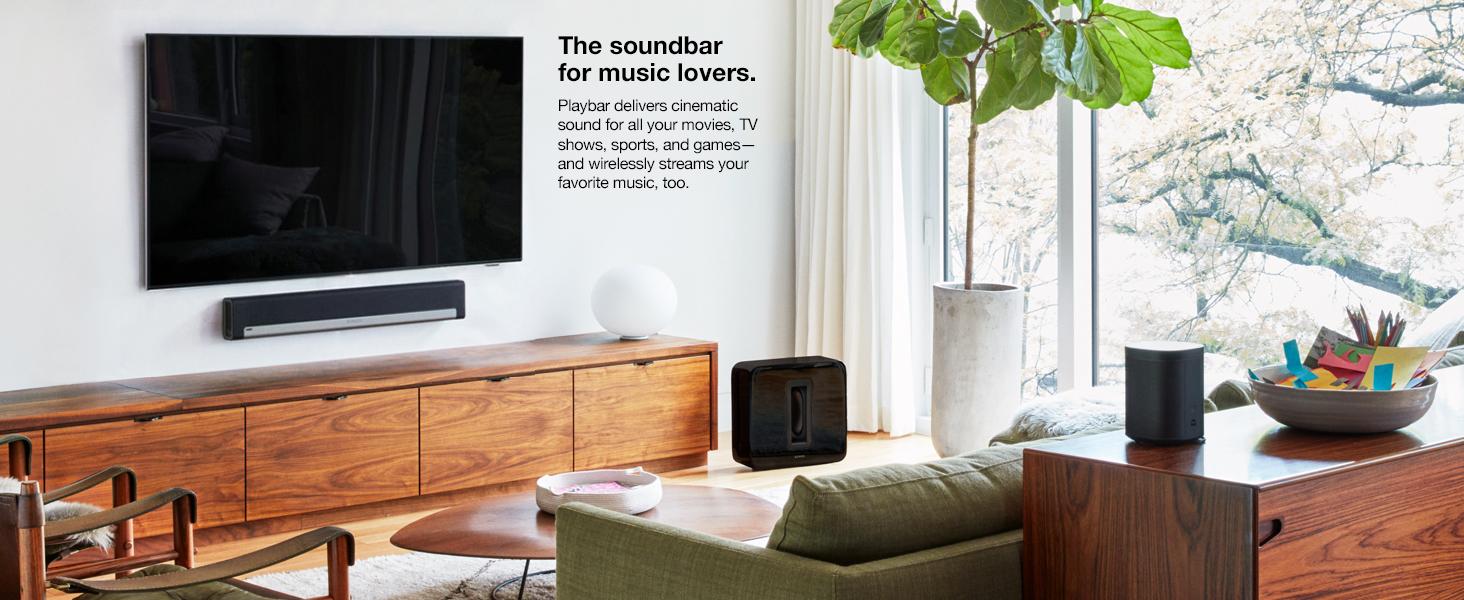 Amazon.com: Sonos 5.1 Home Theater System PLAYBAR, SUB, PLAY:1 ...