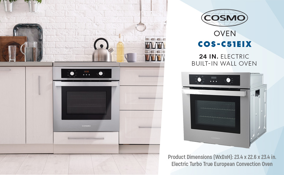 wall oven, electric wall oven, cosmo, cosmo wall oven, cosmo oven, C51EIX