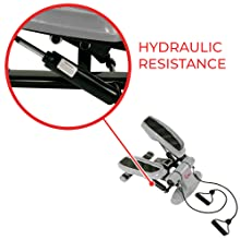 stepper with hydraulic resistance