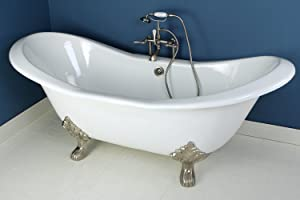 cast iron clawfoot tub used. Aqua Eden VCTND7231NC8 72 inch Cast Iron Clawfoot Double Slipper Bathtub Kingston Brass VCTND7231NC5