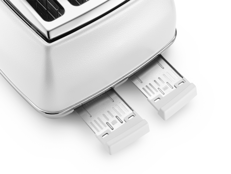 Delonghi CTOE4003.W Elements 4 Slot Toaster, 1800 W, White