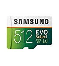 Samsung 512GB MicroSDXC EVO Select Memory Card w/ Adapter
