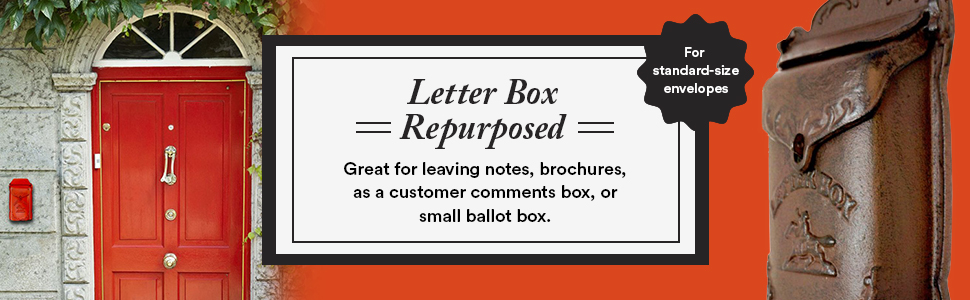 letter box repurposed - great for leaving notes, brochures, or a customer comments box