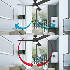 Save energy with ceiling fans in the summer and winter