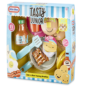 tasty junior, little tikes, food roleplay, toys for 3 year olds, pancake play, roleplay, cooking