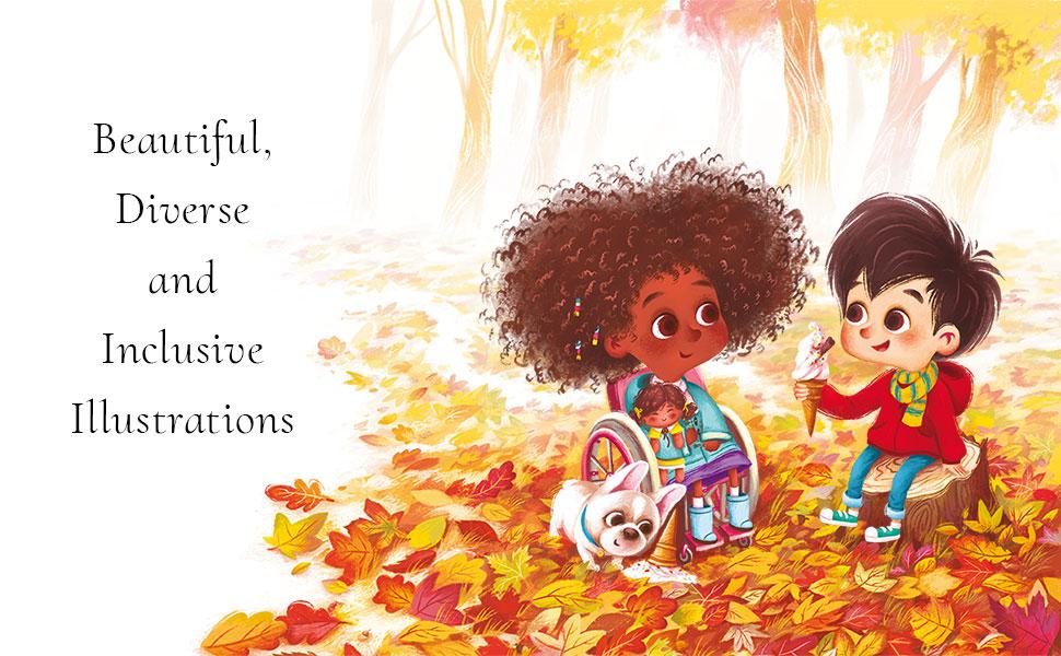 Diverse inclusive children's book beautiful diverse and inclusive illustrations diversity kids book