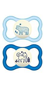Amazon.com: MAM Perfect Night 2 Piece Baby Pacifier, Niño: Baby