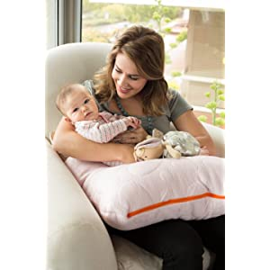 Nursing feeding kapok organic breathable large pillow pebble twin modern organic non-toxic back supp