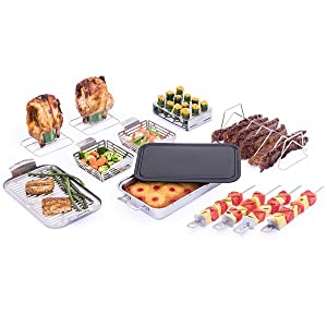 char,broil,grill,plus,accessory,set,compatible,compatibility,pan,skewer,rib,roast,rack,topper,beer