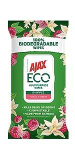 Ajax Eco Vanilla & Berries 110 Wipes